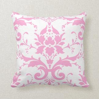 Almofada Travesseiro cor-de-rosa do design do damasco