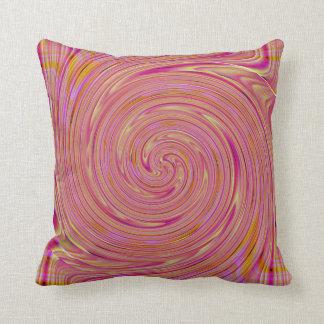 Almofada Travesseiro cor-de-rosa do redemoinho