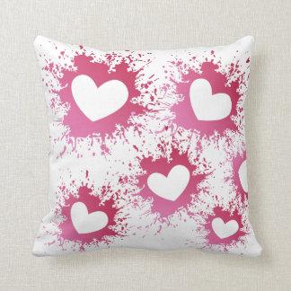 Almofada Travesseiro cor-de-rosa dos corações