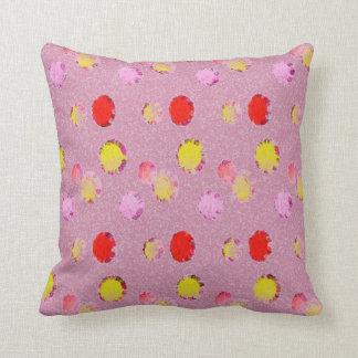 Almofada Travesseiro cor-de-rosa dos pontos do chique