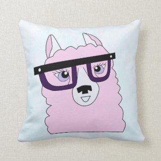 Almofada Travesseiro cor-de-rosa Nerdy do lama