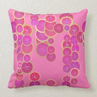 Almofada Travesseiro cor-de-rosa parvo dos círculos