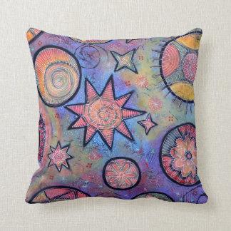 Almofada Travesseiro cósmico colorido lunático