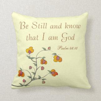Almofada Travesseiro cristão do salmo, 46:10 do salmo