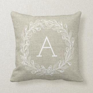Almofada Travesseiro customizável do monograma - grinalda