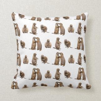Almofada Travesseiro da agitação do cão de pradaria