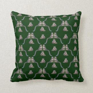 Almofada Travesseiro da agitação do leopardo de neve (verde