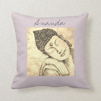 Almofada Travesseiro da arte da aguarela de Ananda Buddha