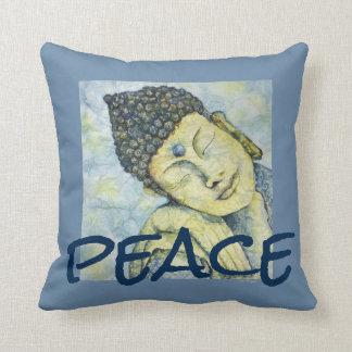 Almofada Travesseiro da arte da aguarela de Buddha da paz