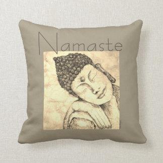 Almofada Travesseiro da arte da aguarela de Buddha do zen