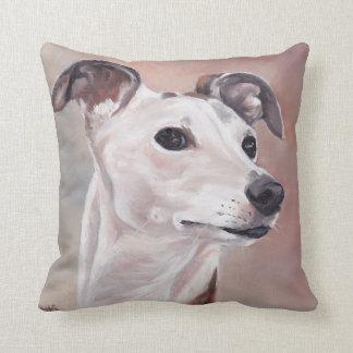 Almofada Travesseiro da arte do cão de Whippet
