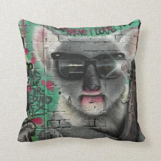 Almofada Travesseiro da arte/grafites da rua de Melbourne