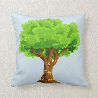 Almofada Travesseiro da árvore do amante do aniversário