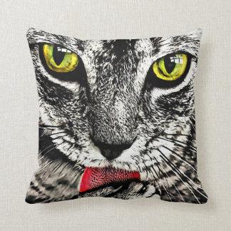 Almofada Travesseiro da cara do gato da preparação