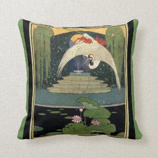 Almofada Travesseiro da cena do jardim do art deco