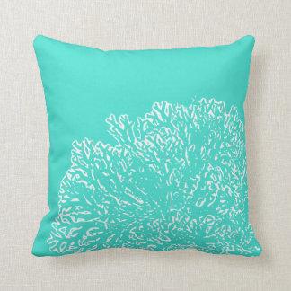 Almofada Travesseiro da cerceta com teste padrão coral