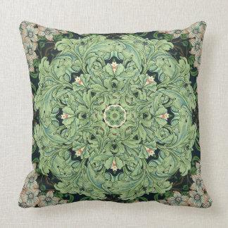 Almofada Travesseiro da decoração da mandala da folha e da