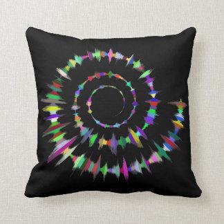 Almofada Travesseiro da espiral da cor do espectro