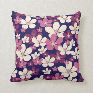 Almofada Travesseiro da flor de cerejeira do vintage