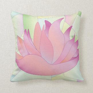 Almofada Travesseiro da flor de Lotus do vitral