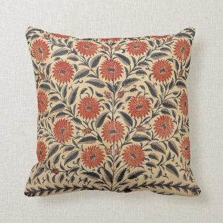Almofada Travesseiro da flora do rolo do vintage