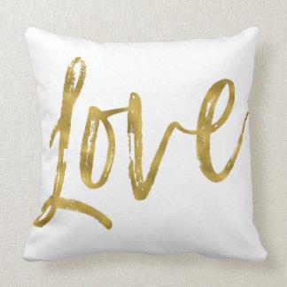 Almofada Travesseiro da folha de ouro do falso do amor