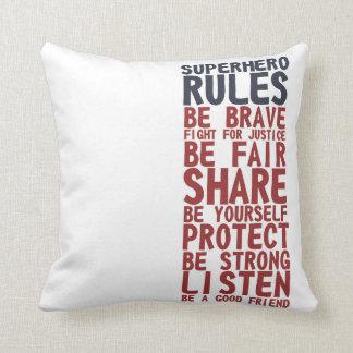 Almofada Travesseiro da frase do design de texto das regras