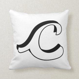 Almofada Travesseiro da inicial da letra C