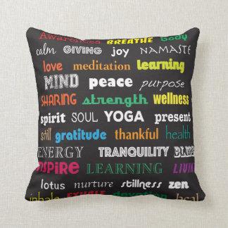 Almofada Travesseiro da ioga da inspiração