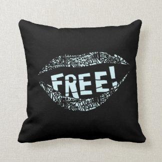 Almofada Travesseiro da liberdade de expressão