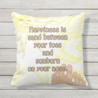 Almofada Travesseiro da luz do sol da areia da praia da