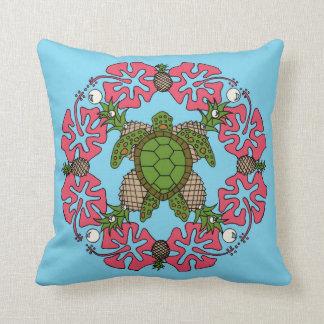 Almofada Travesseiro da Mandala da tartaruga de mar