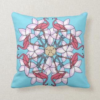 Almofada Travesseiro da Mandala do flamingo