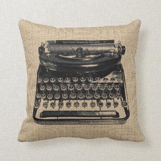 Almofada Travesseiro da máquina de escrever do vintage
