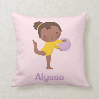 Almofada Travesseiro da menina do Gymnast e da decoração da