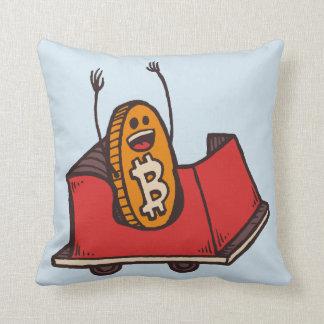 Almofada Travesseiro da montanha russa de Bitcoin