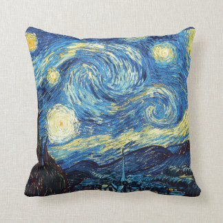 Almofada Travesseiro da noite estrelado de Vincent van Gogh