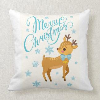 Almofada Travesseiro da rena do elogio do feriado