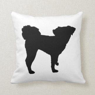 Almofada Travesseiro da silhueta do cão