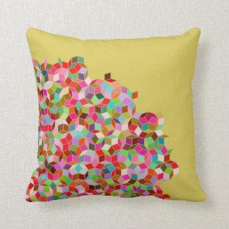 Almofada Travesseiro da telha de Penrose (rosa e bege)