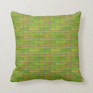 Almofada Travesseiro da terra verde do algodão do teste
