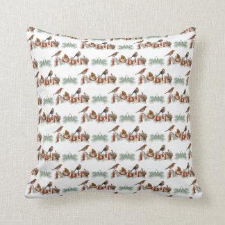 Almofada Travesseiro da textura dos robins (escolha a cor)