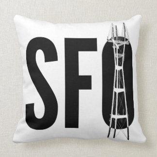 Almofada Travesseiro da torre do SFO (San Francisco) Sutra