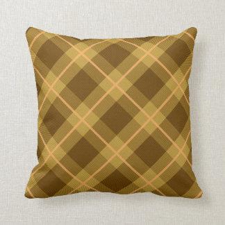 Almofada Travesseiro da xadrez de Brown