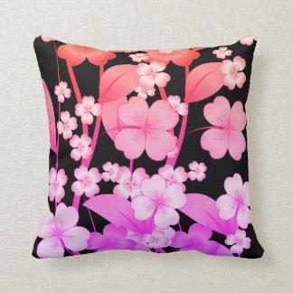 Almofada travesseiro dado forma com flor-Cor-de-rosa e roxo