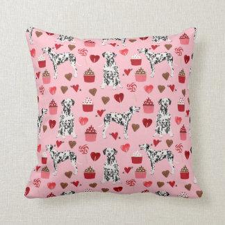 Almofada Travesseiro Dalmatian do cão do amor dos namorados