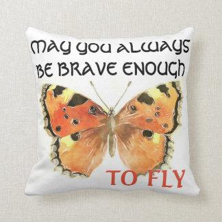 Almofada Travesseiro das citações da borboleta