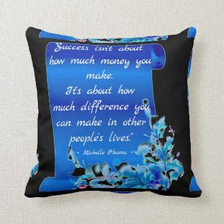 Almofada Travesseiro das citações de Michelle Obama