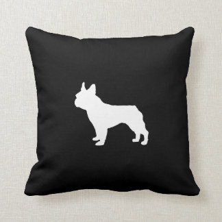 Almofada Travesseiro de Boston Terrier - preto e branco