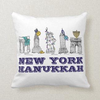 Almofada Travesseiro de Chanukah dos marcos de New York